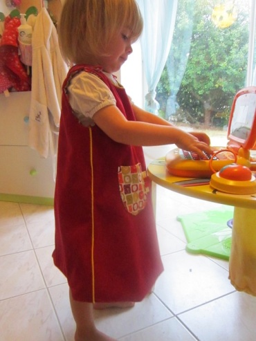 Robe trapèze 2 ans originale (11)
